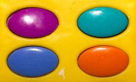 Colored plastic buttons Stock Photo
