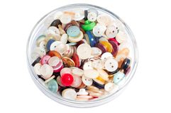 Colored plastic buttons old Royalty Free Stock Photography