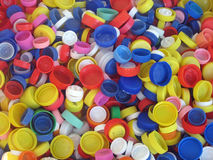 Colored plastic caps Royalty Free Stock Photo