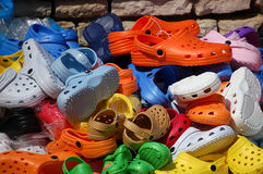 Colored Plastic Clogs Royalty Free Stock Photo