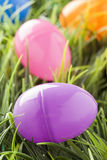 Colored Plastic Easter Eggs Royalty Free Stock Images