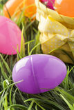 Colored Plastic Easter Eggs Royalty Free Stock Photo