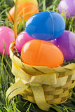 Colored Plastic Easter Eggs Royalty Free Stock Image