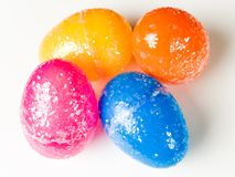 Kids plastic Easter Eggs. Colored plastic Easter eggs, great for hiding candy, toys or money in for an Easter Egg Hunt Royalty Free Stock Photography
