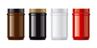 Colored Plastic Jar Mockup Stock Photography