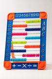 Colored plastic mathematics tool for kids Royalty Free Stock Photos