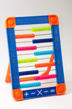 Colored plastic mathematics tool for kids Stock Images