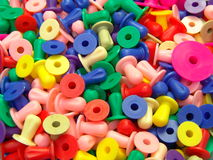 Colored plastic pellets Royalty Free Stock Photo