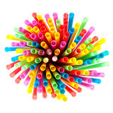 Colored plastic straws Stock Photo