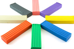 Colored plasticine Stock Image