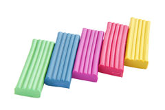 Colored plasticine Stock Images