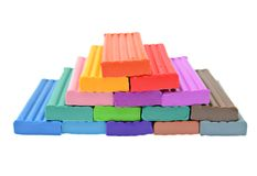 Colored plasticine isolated on the white background Stock Photography
