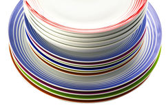 Colored plate Royalty Free Stock Photos