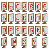 Colored plates with alphabet. Education. Pixel Stock Photography