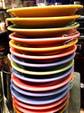 Colored plates in a bar Royalty Free Stock Photo