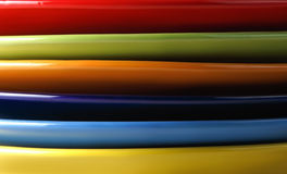 Colored plates on the side Royalty Free Stock Photos