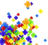 Colored pluses on white Royalty Free Stock Image