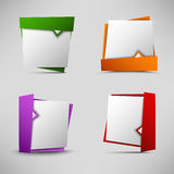Colored pointers design element template Stock Photography