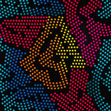 Colored points seamless pattern. stock photos