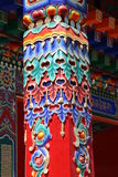 Colored Pole. Colored drawing pole of Chinese building Royalty Free Stock Images