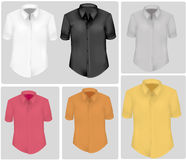 Colored polo shirts. Photo-realistic vector Royalty Free Stock Images