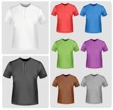 Colored polo shirts. Photo-realistic  illustration Stock Photos