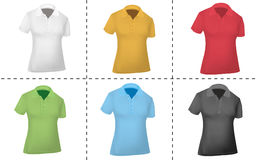 Colored polo shirts (women). Stock Images