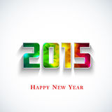 Colored polygonal 2015 year. Greeting card Royalty Free Stock Images
