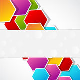 Colored polygonal shape Stock Photo