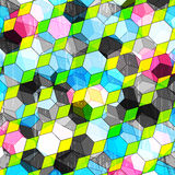 Colored polygons abstract geometric background Stock Photos