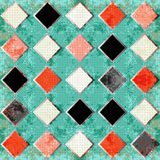 Colored polygons in a retro style. abstract geometric background. vector illustration Royalty Free Stock Images
