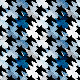 Colored polygons seamless abstract geometric pattern on a black background Stock Image