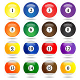 Colored Pool Balls. Royalty Free Stock Photography