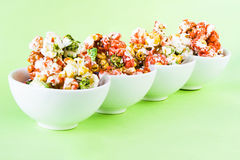 Colored pop corn Royalty Free Stock Photography