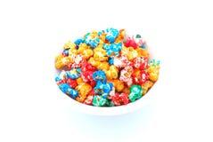 colored popcorn Стоковые Изображения RF