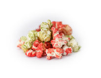 Colored Popcorn Stock Photography