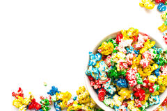 Colored popcorn Stock Image