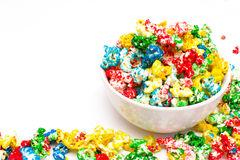 Colored popcorn Royalty Free Stock Photos
