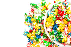 Colored popcorn Royalty Free Stock Images