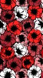 Colored Poppy flowers mix. Pattern of poppy flowers. Colored flowers.Can be used as background, wallpaper, printed textiles Stock Photo