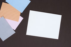 Colored post Royalty Free Stock Photos