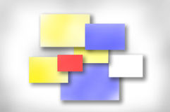 Colored post its Stock Images