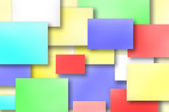 Colored post its Stock Image
