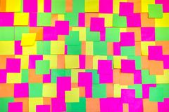 Colored post it notes background Royalty Free Stock Image
