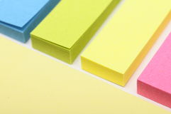 Colored post it paper Stock Photos