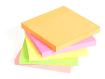 Colored post-it are stacked on each other Stock Photography