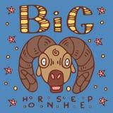 Big horn sheep poster vector illustration