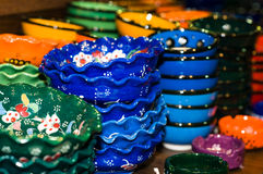 Colored pottery Royalty Free Stock Photography