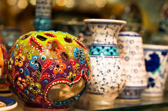 Colored pottery Stock Photo