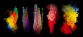Colored powder Stock Images